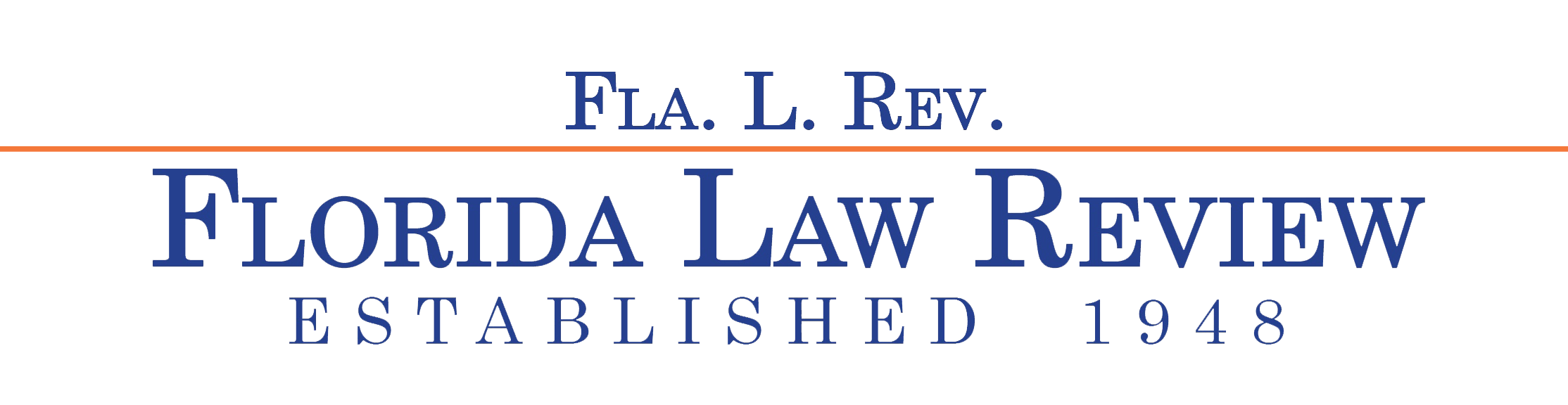 Florida Law Review Liner Logo